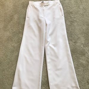 Investments white fully lined textured trousers